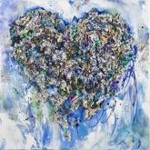 Je hebt een wereld's hart ! 90 x 90 cm