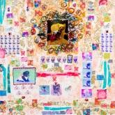 Princessen taart, Gem. techniek op linnen, 90 x 90 cm.