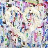 Vind mijn hart, Gem.techniek, 60 x 60 cm