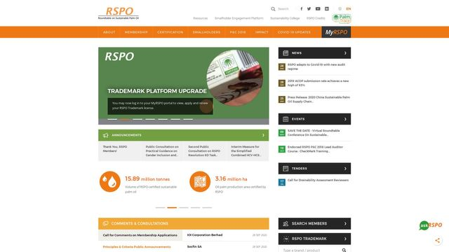 RSPO - Roundtable on Sustainable Palm Oil