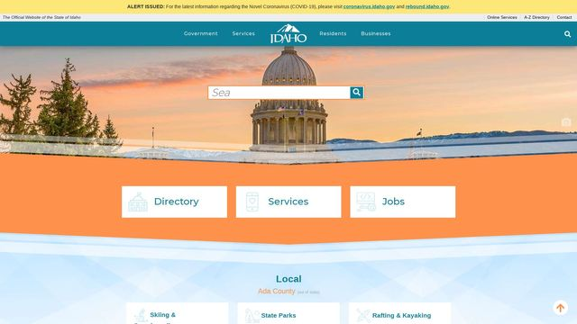 The Official Website of the State of Idaho
