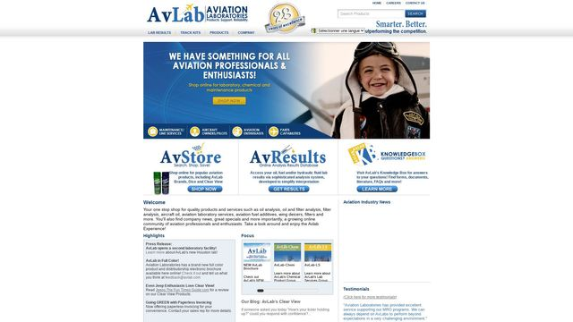 Aviation Products And Lab Testing