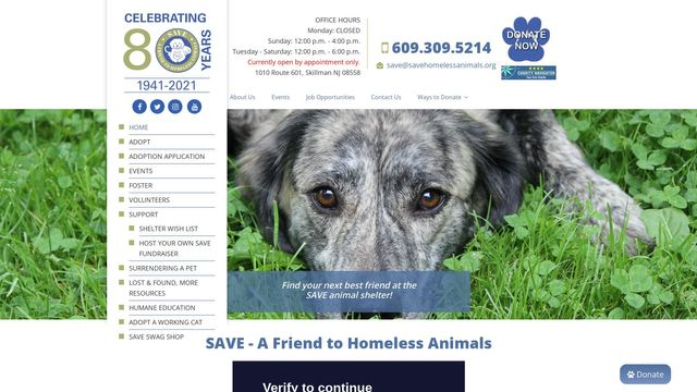 SAVE - A Friend to Homeless Animals