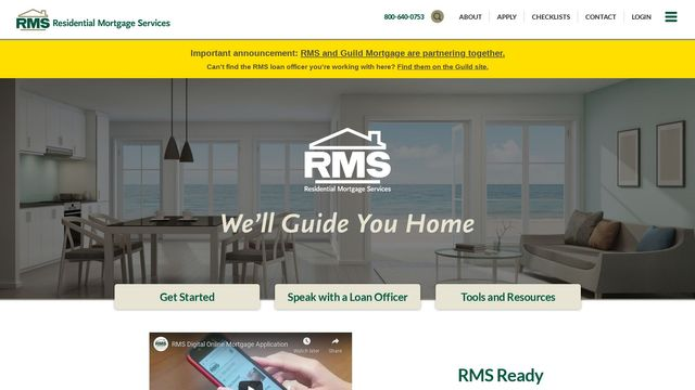 RMS Ready Mobile Mortgage App by RMS
