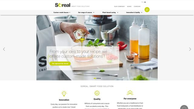 Soreal, fournisseur de sauces sur-mesure