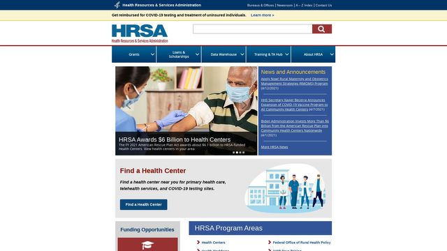 Health Resources and Services Administration (HRSAgov), HHS