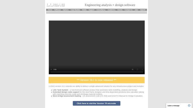LUSAS infrastructure design software