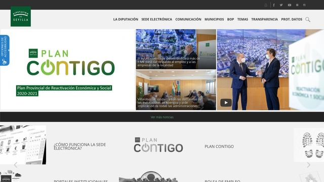 Web corporativa de Diputación de Sevilla