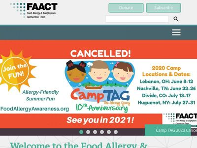 FAACT, Food Allergy & Anaphylaxis Connection Team