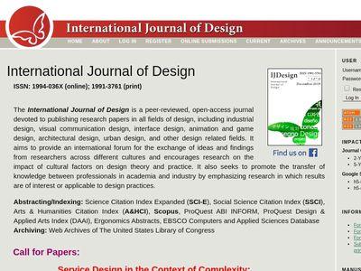 International Journal of Design