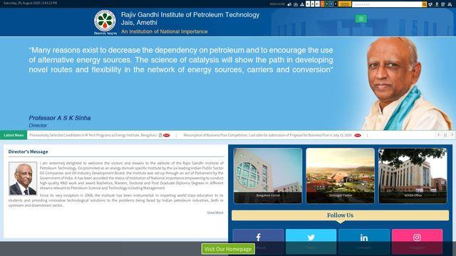 Rajiv Gandhi Institute of Petroleum  Technology (RGIPT)