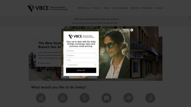 VBCE - Vancouver Bullion & Currency Exchange