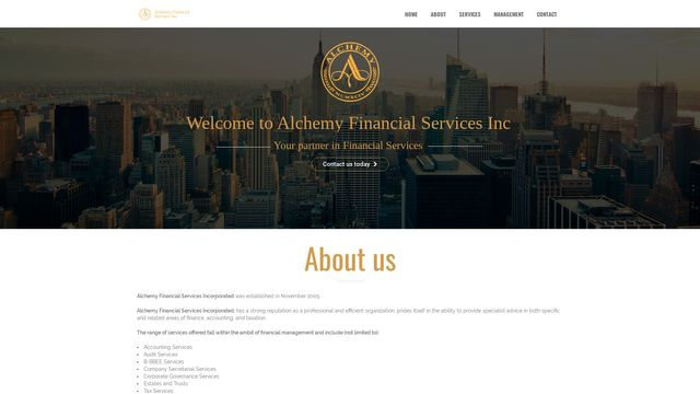 Alchemy Financial Services Incorporated