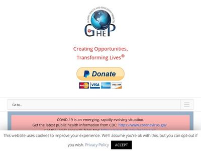 Global Health and Education Projects, Inc.