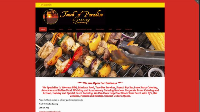 Touch Of Paradise Catering