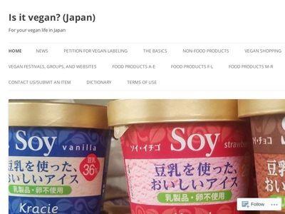 Is it Vegan? (Japan)
