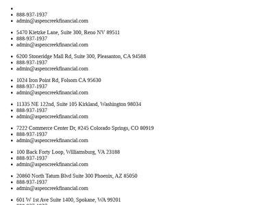 Aspen Creek Financial and Insurance Services LLC