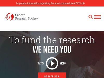Cancer Research Society   Société de Recherche sur le Cancer