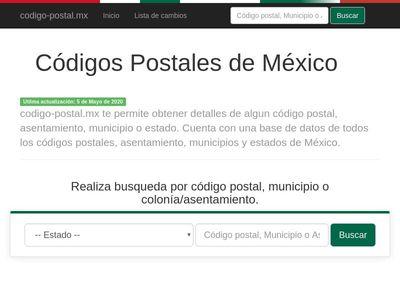 Codigo Postal Mexico