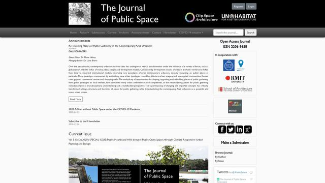 The Journal Of Public Space