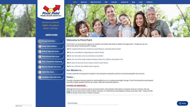 Pivot Point Family Growth Center Inc.