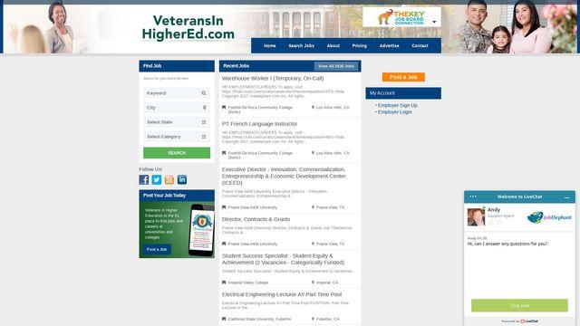 VeteransInHigherEd.com