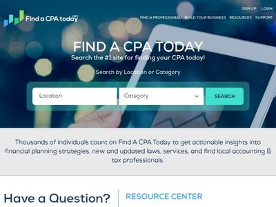 Find a CPA Today