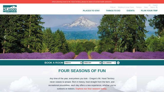 Oregon'S Mt Hood Territory