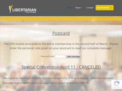 Libertarian Party Of Oregon