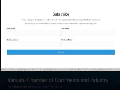 Vanuatu Chamber Of Commerce And Industry