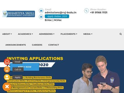 BHARTIYA SKILL DEVELOPMENT UNIVERSITY