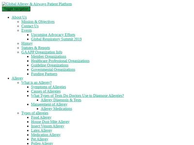 Global Allergy & Airways Patient Platform