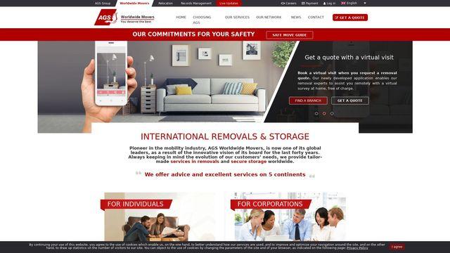 AGS international moving company