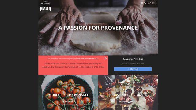 Rialto Foods A Division Of Libstar Operations (Pty) Ltd