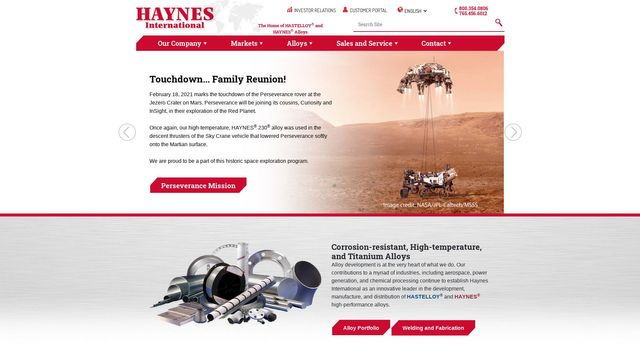 Haynes International, Inc.