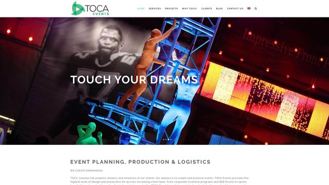 TOCA Events: Event Planning, Production & Logistics
