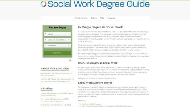 Social Work Degree Guide