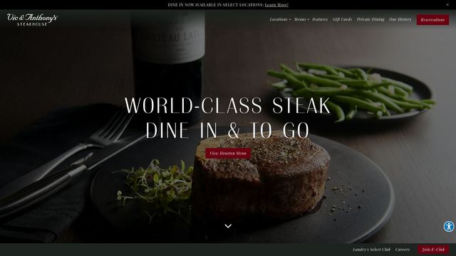 Vic & Anthony's Steakhouse | World-Class Steakhouse of Landry's Inc.