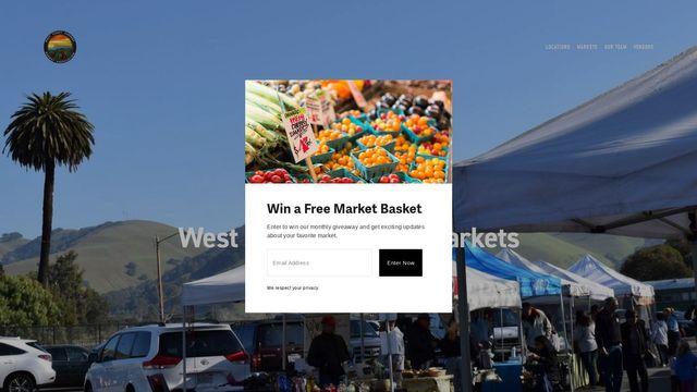 West Coast Farmers Markets
