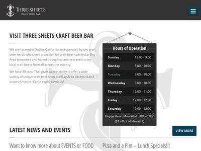 Three Sheets Craft Beer