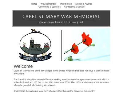 Capel St Mary War Memorial Trust