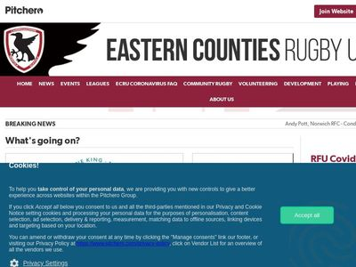 EASTERN COUNTIES RUGBY UNION LIMITED