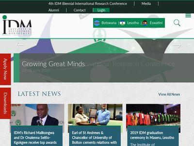 Institute of Development Management- IDM