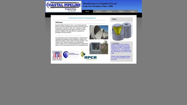 Coastal Pipeline Products Corp