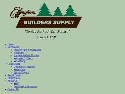 Effingham Builders Supply, Inc.