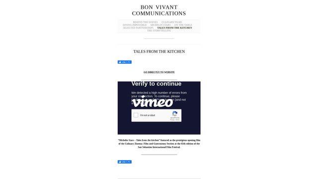 BON VIVANT COMMUNICATIONS