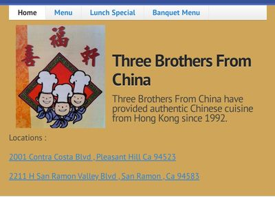 Three Brothers From China