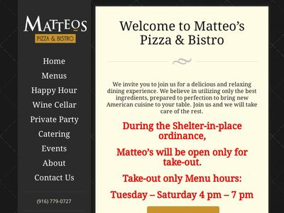 Matteo's Pizza & Bistro