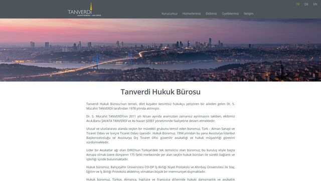 Tanverdi Hukuk Bürosu / Anwaltskanzlei / Law Office