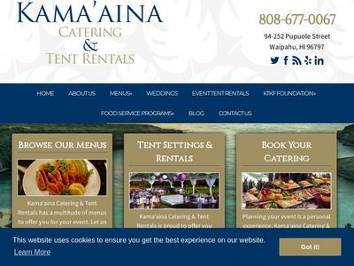 Contact Catering Company in Oahu, HI